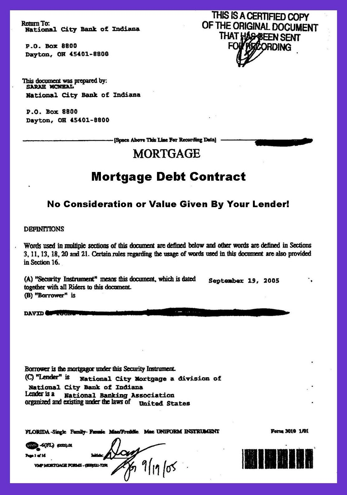 Doc8651122 Sample Mortgage Contract Doc575709 Sample Mortgage – Mortgage Document Template