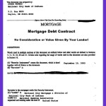 Mortgage Debt Loan Contract