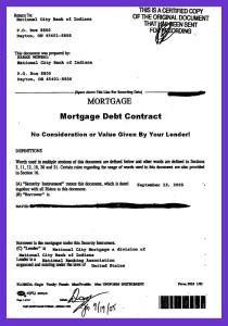 Mortgage Debt Loan Contract