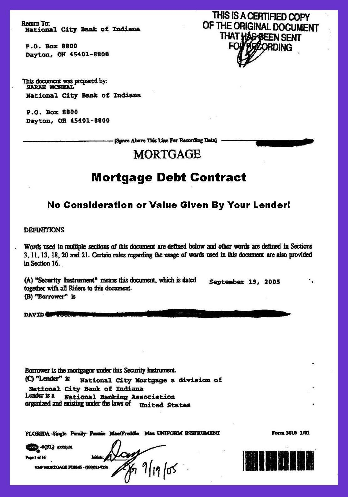 Are You In Mortgage Debt Your Lender Stole Your Mortgage Note – Bank Loan Agreement Format